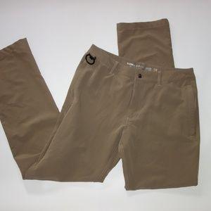 Barbell Apparel Men 28 Athletic Pants Tan Casual